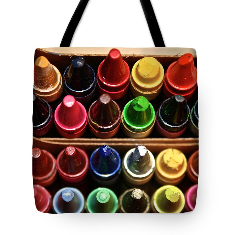 Art Supplies Tote Bag featuring the photograph Begin With Yellow by Susan Herber
