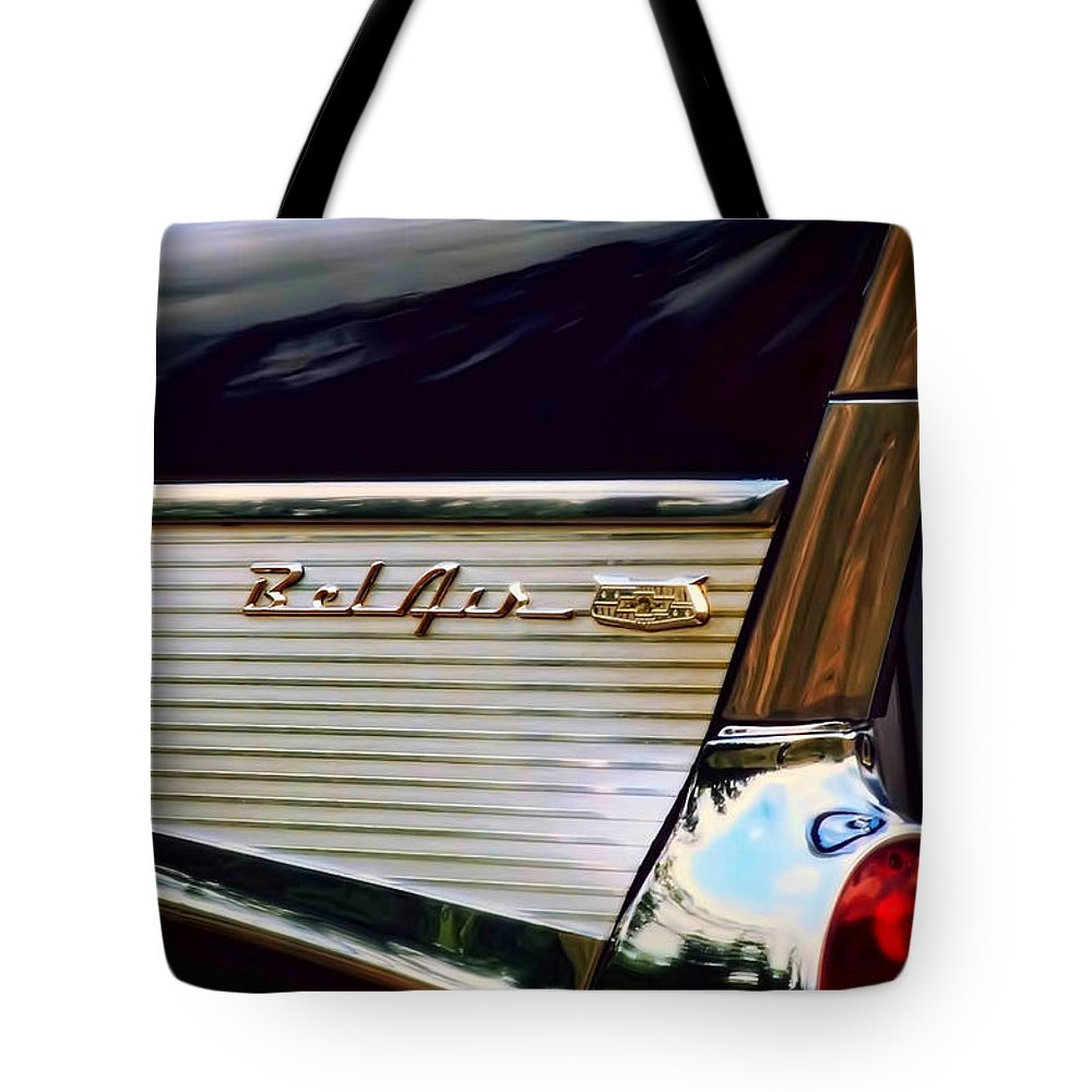 1957 Tote Bag featuring the photograph Bel Air by Scott Norris