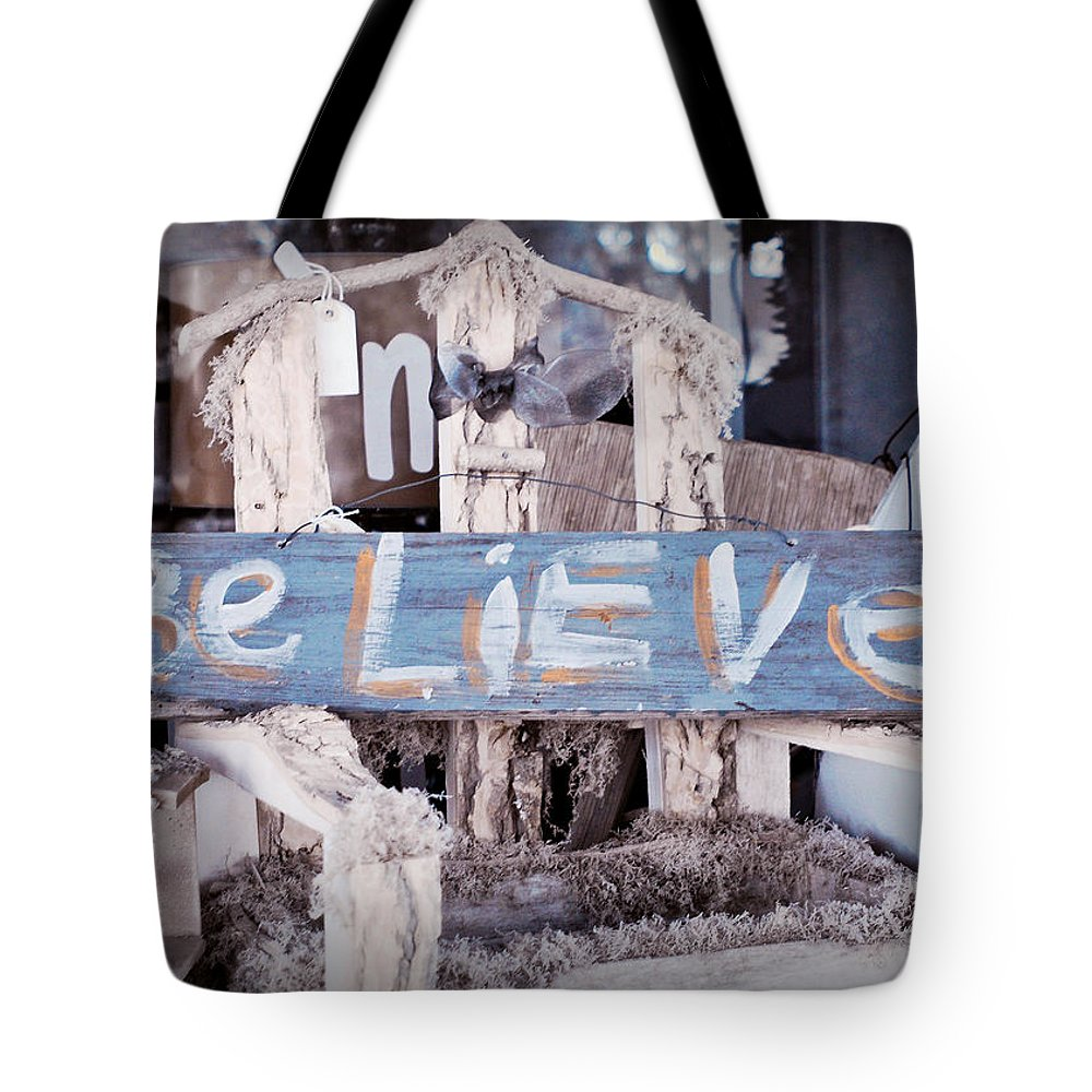 Greeting Tote Bag featuring the photograph Believe by Joye Ardyn Durham