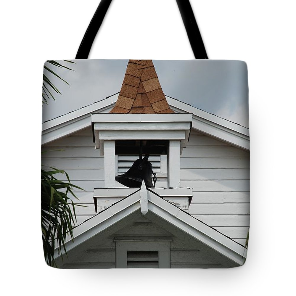 Architecture Tote Bag featuring the photograph Bell Tower by Rob Hans