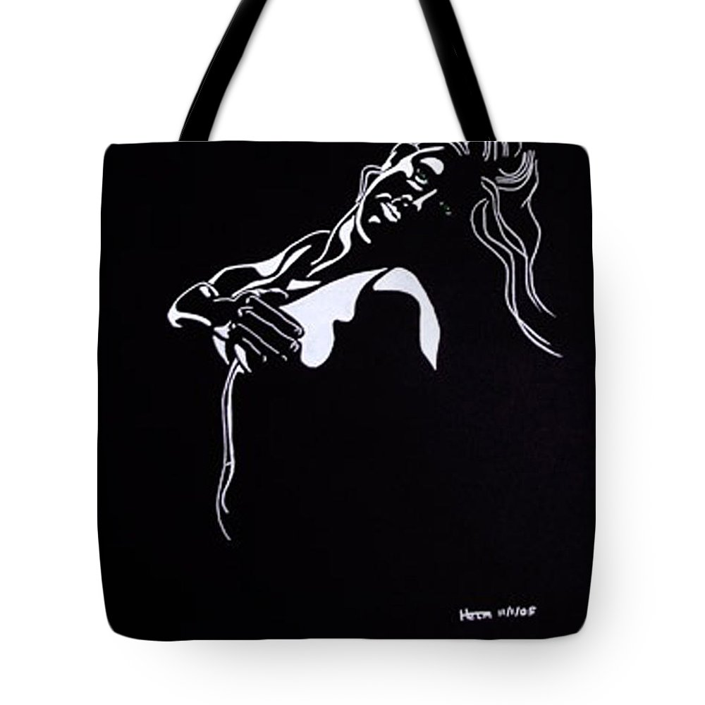Sex Photographs Tote Bag featuring the drawing Bella Verde by Mayhem Mediums