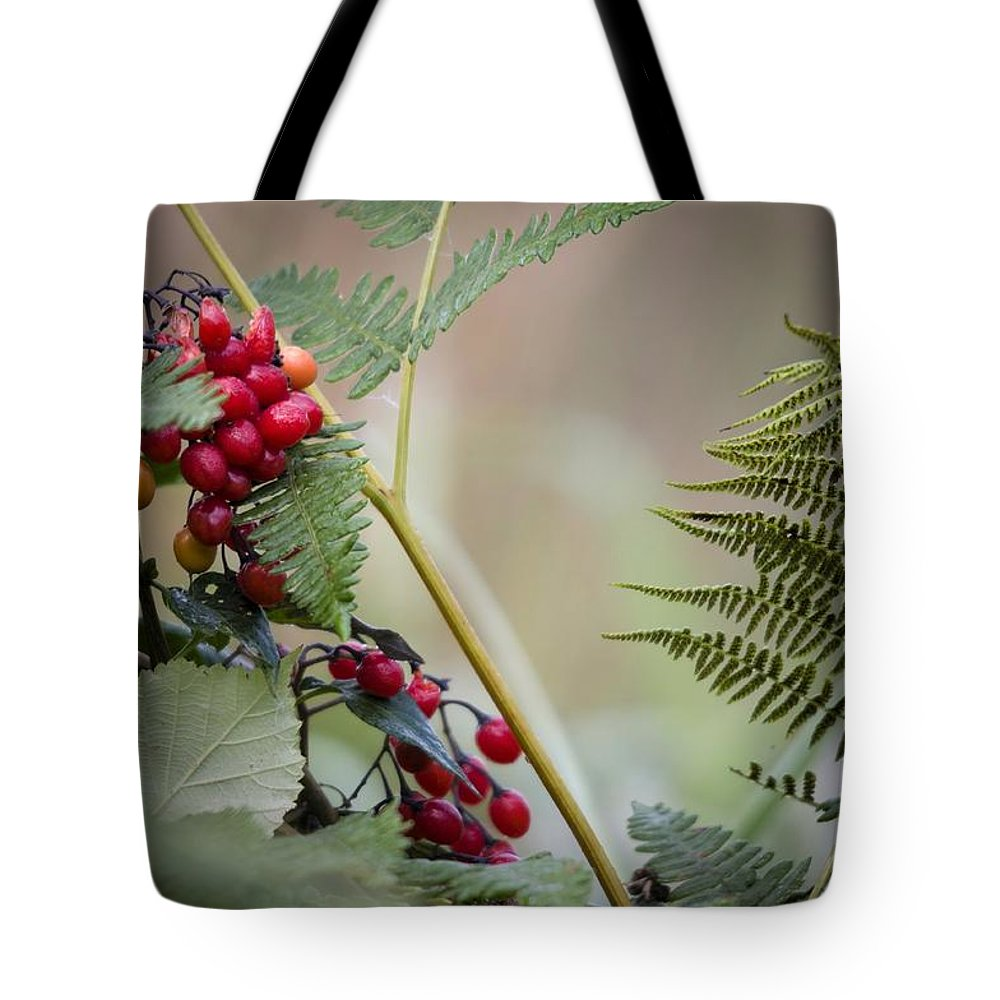 Berries Tote Bag featuring the photograph Berries by Martin Cooper