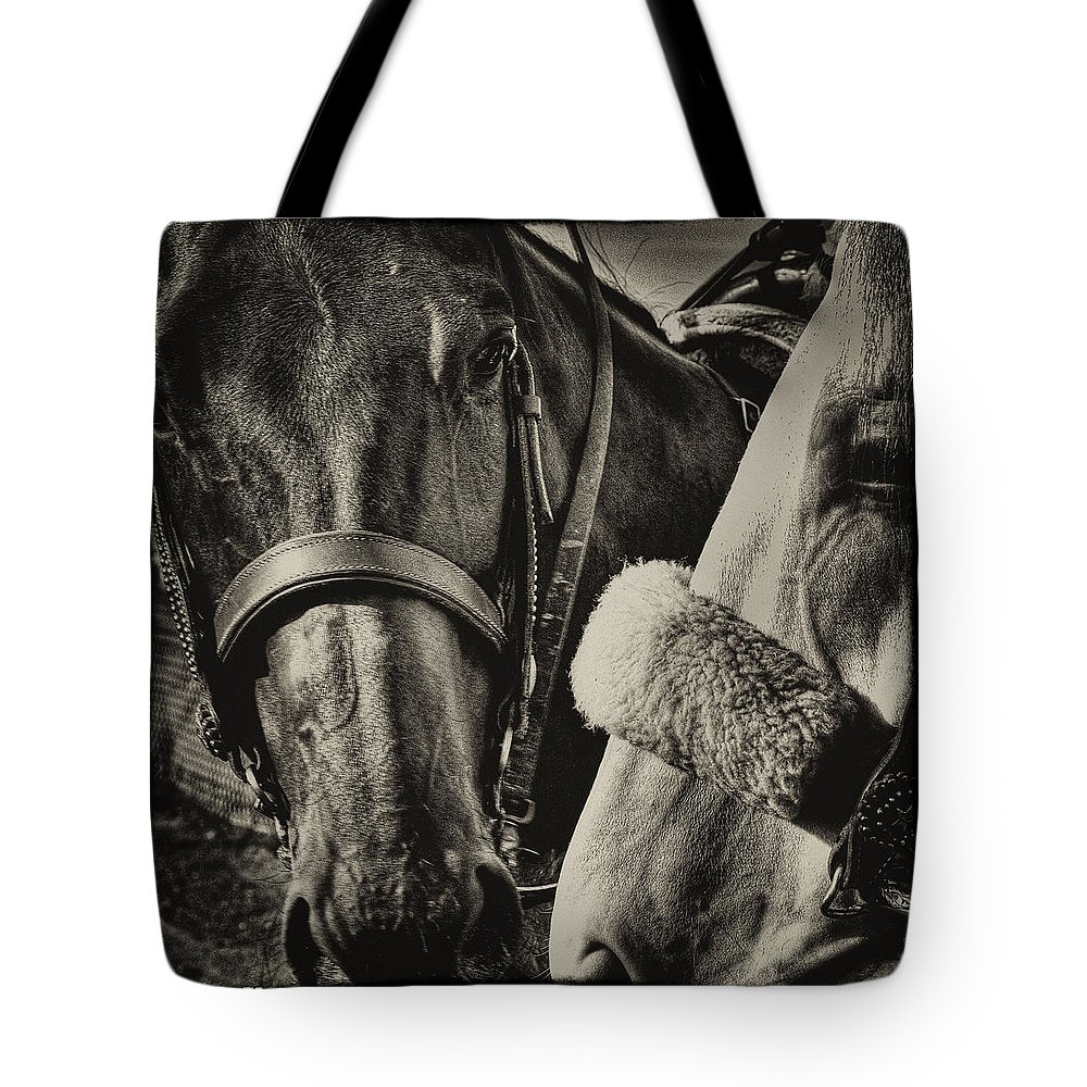 Horses Tote Bag featuring the photograph Best Of Friends II by David Patterson
