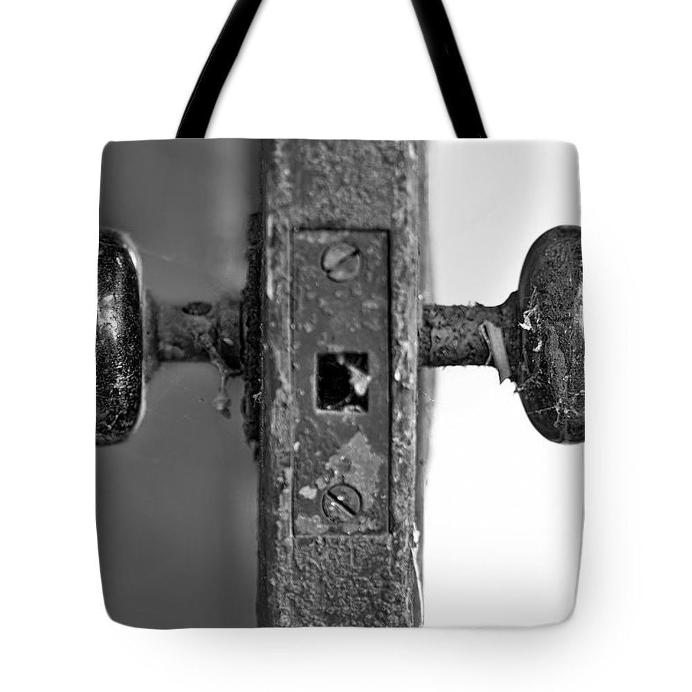 Door Tote Bag featuring the photograph Between by Evelina Kremsdorf