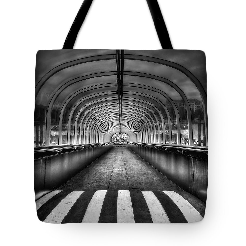 Tunnel Tote Bag featuring the photograph Beyond My Destiny by Evelina Kremsdorf