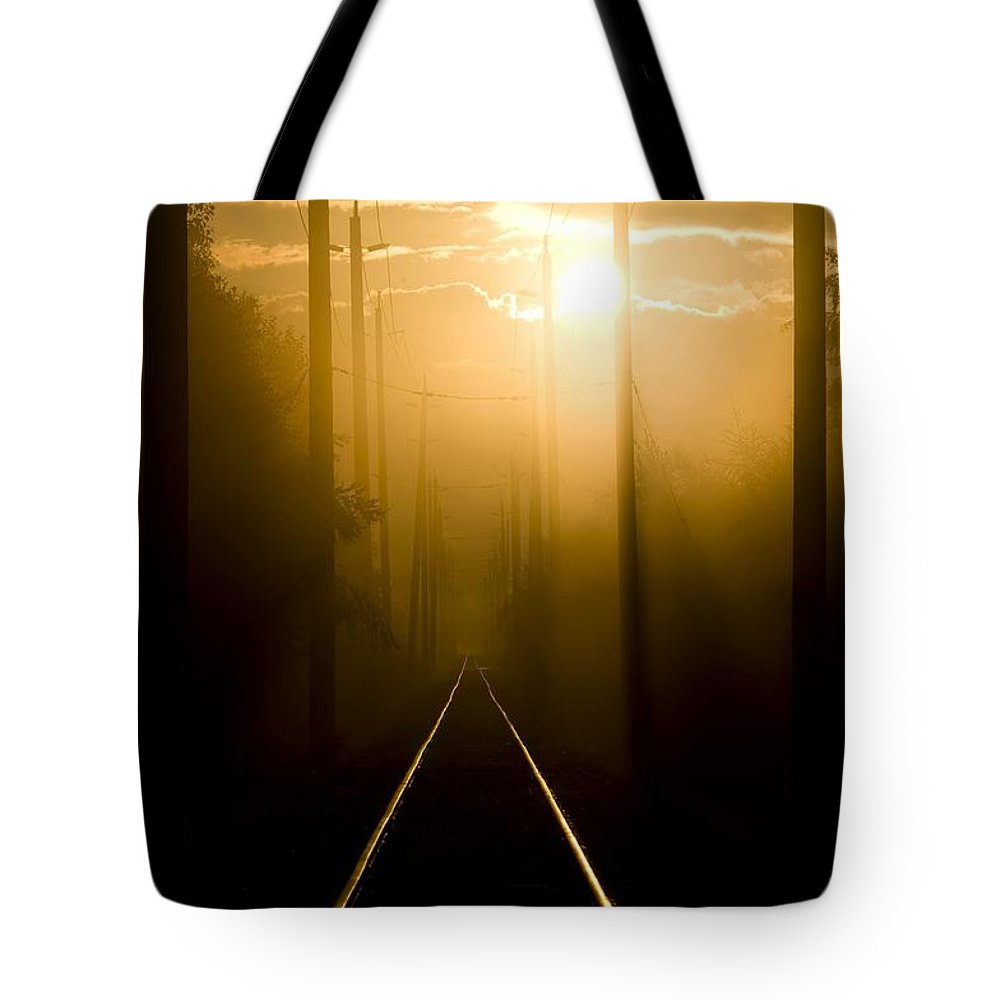 Fog Tote Bag featuring the photograph Beyond The Fog by Martin Cooper