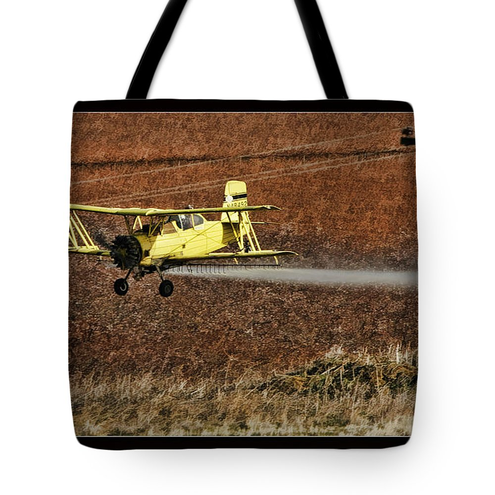 Fine Art Photographers Tote Bag featuring the photograph Bi Plane And Phone Pole by Blake Richards