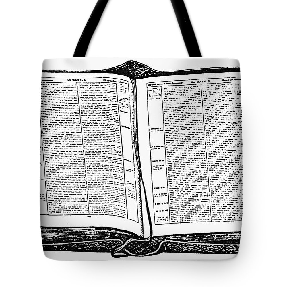 19th Century Tote Bag featuring the photograph Bible, 19th Century by Granger