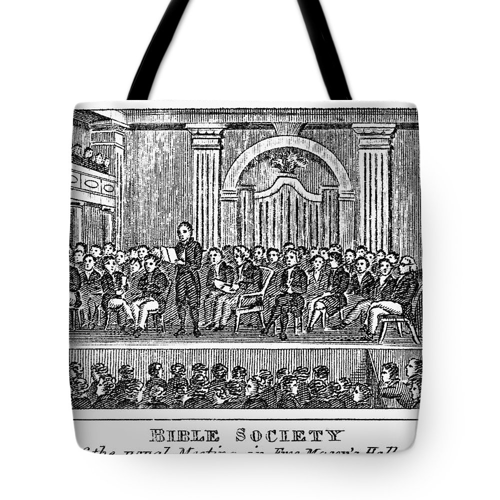 19th Century Tote Bag featuring the photograph Bible Societies by Granger
