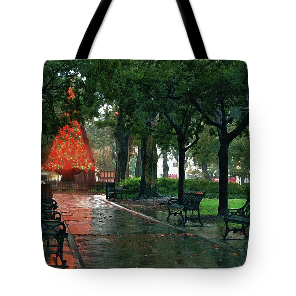 Alabama Photographer Tote Bag featuring the digital art Bienville Square by Michael Thomas