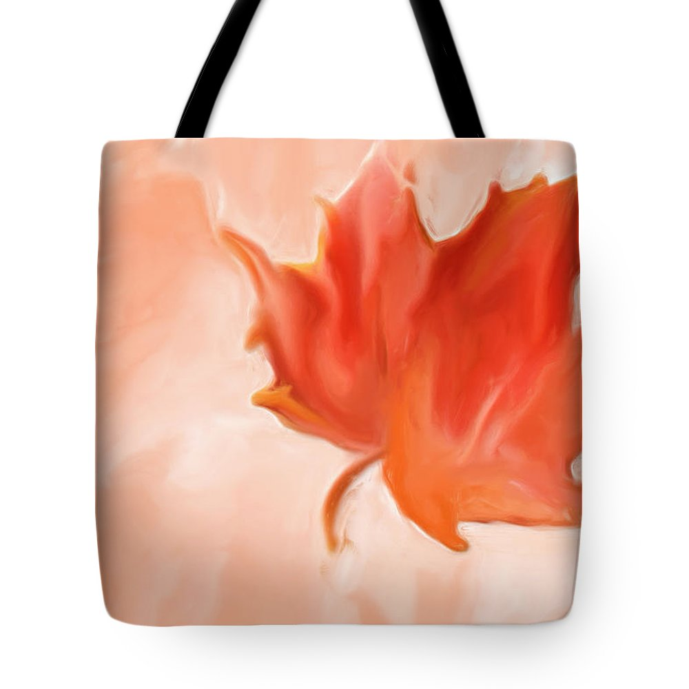 Maple Tote Bag featuring the painting Big Leaf Maple by Heidi Smith