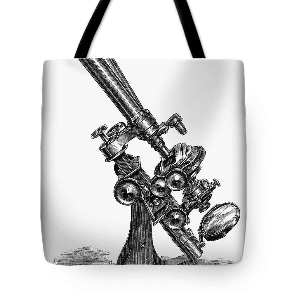 19th Century Tote Bag featuring the photograph Binocular Microscope by Granger