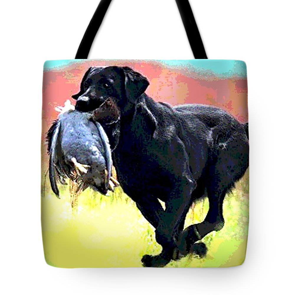 Irish Setter Tote Bag featuring the photograph Bird Dog by George Pedro