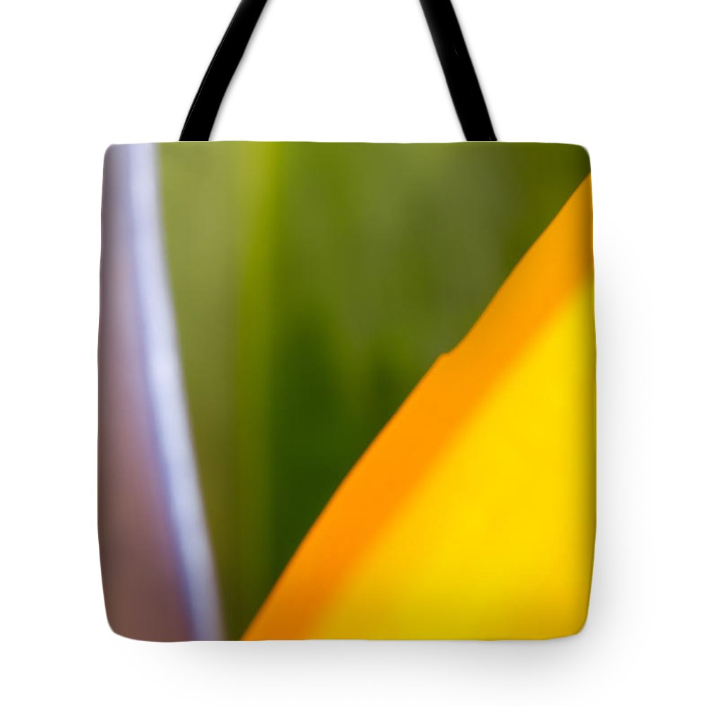 Abstract Tote Bag featuring the photograph Bird Of Paradise Abstract 3 by Roger Mullenhour