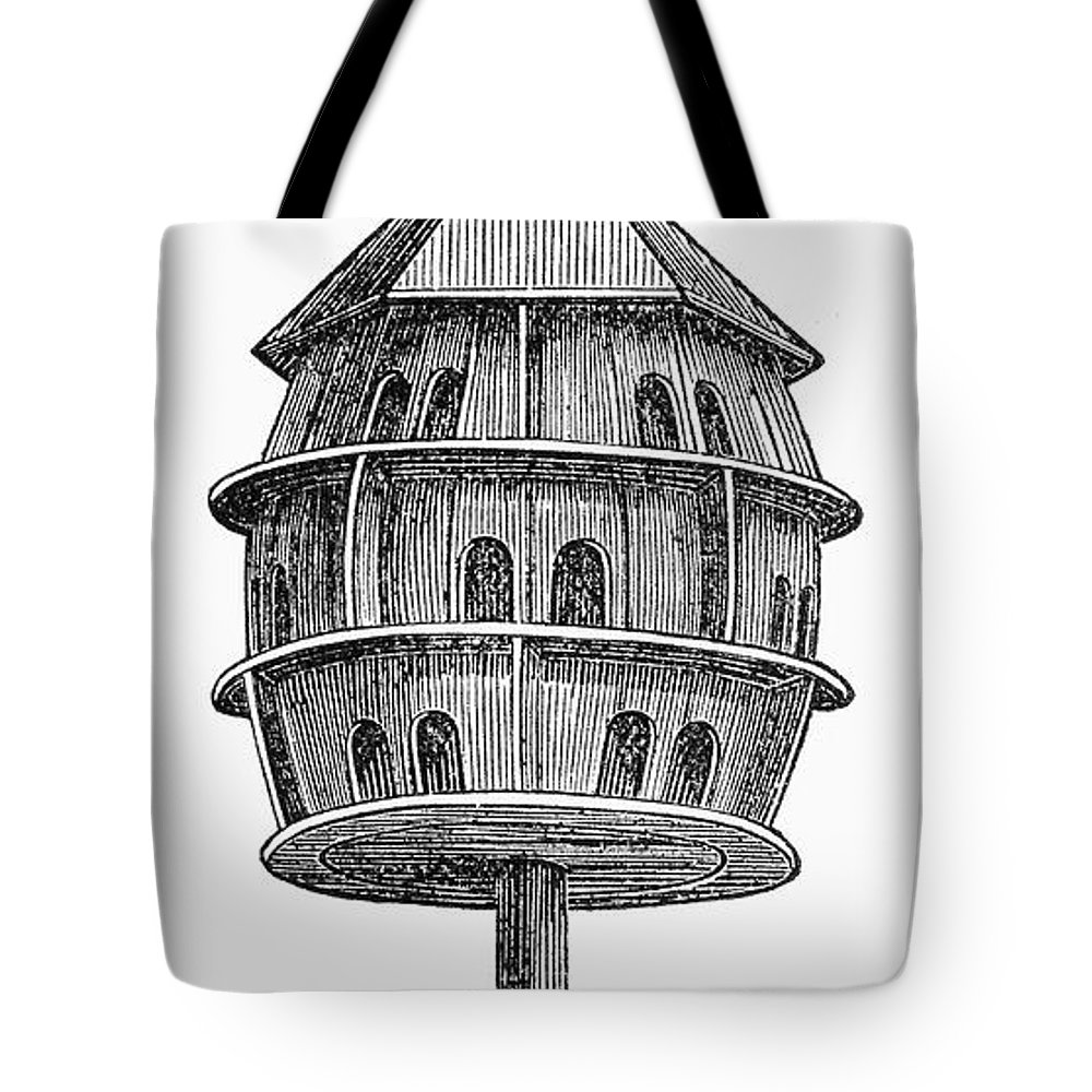 19th Century Tote Bag featuring the photograph Birdhouse, 19th Century by Granger