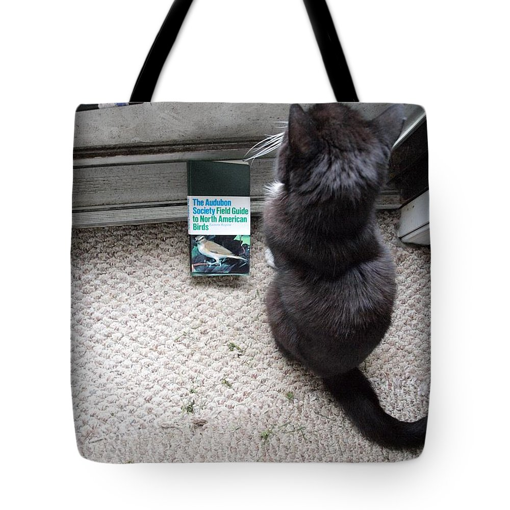 Birding Tote Bag featuring the photograph Birding Cat One by Joshua House