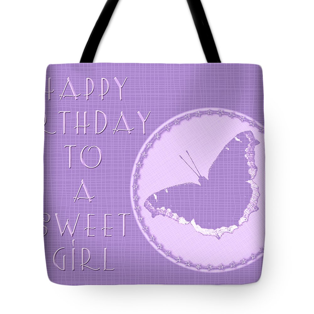 Birthday Tote Bag featuring the photograph Birthday Girl Greeting Card - Mourning Cloak Butterfly by Mother Nature