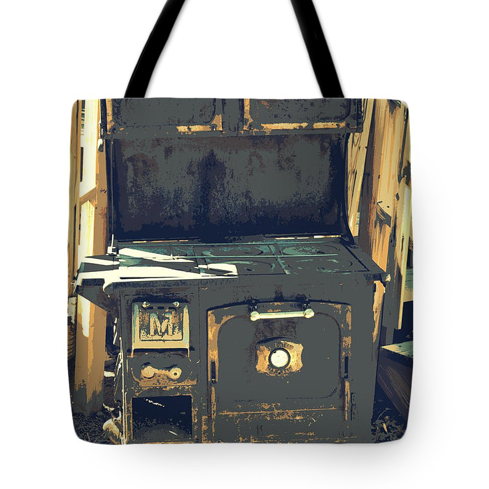 Old Stove Tote Bag featuring the photograph Biscuits In The Oven by Diane montana Jansson