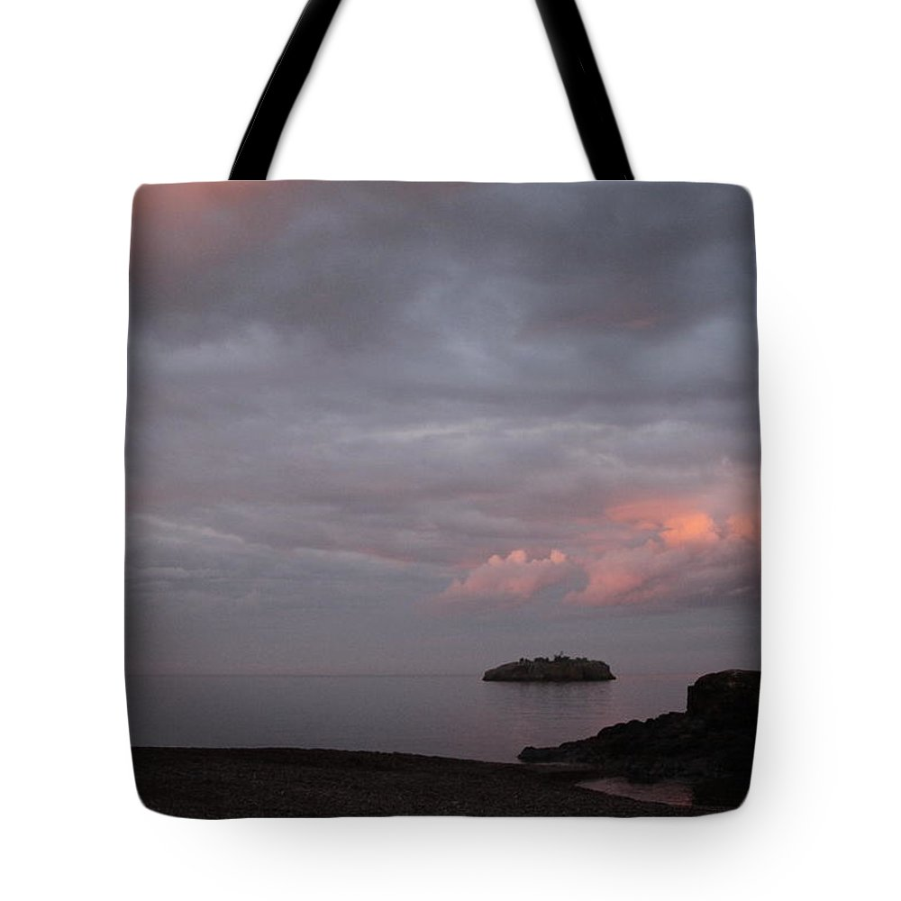 Tote Bag featuring the photograph Black Beach Silver Bay by Joi Electa