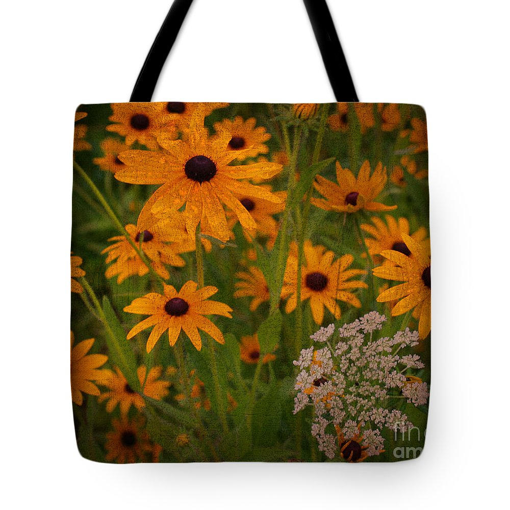 Flower Tote Bag featuring the photograph Black Eyed Susans by Smilin Eyes Treasures