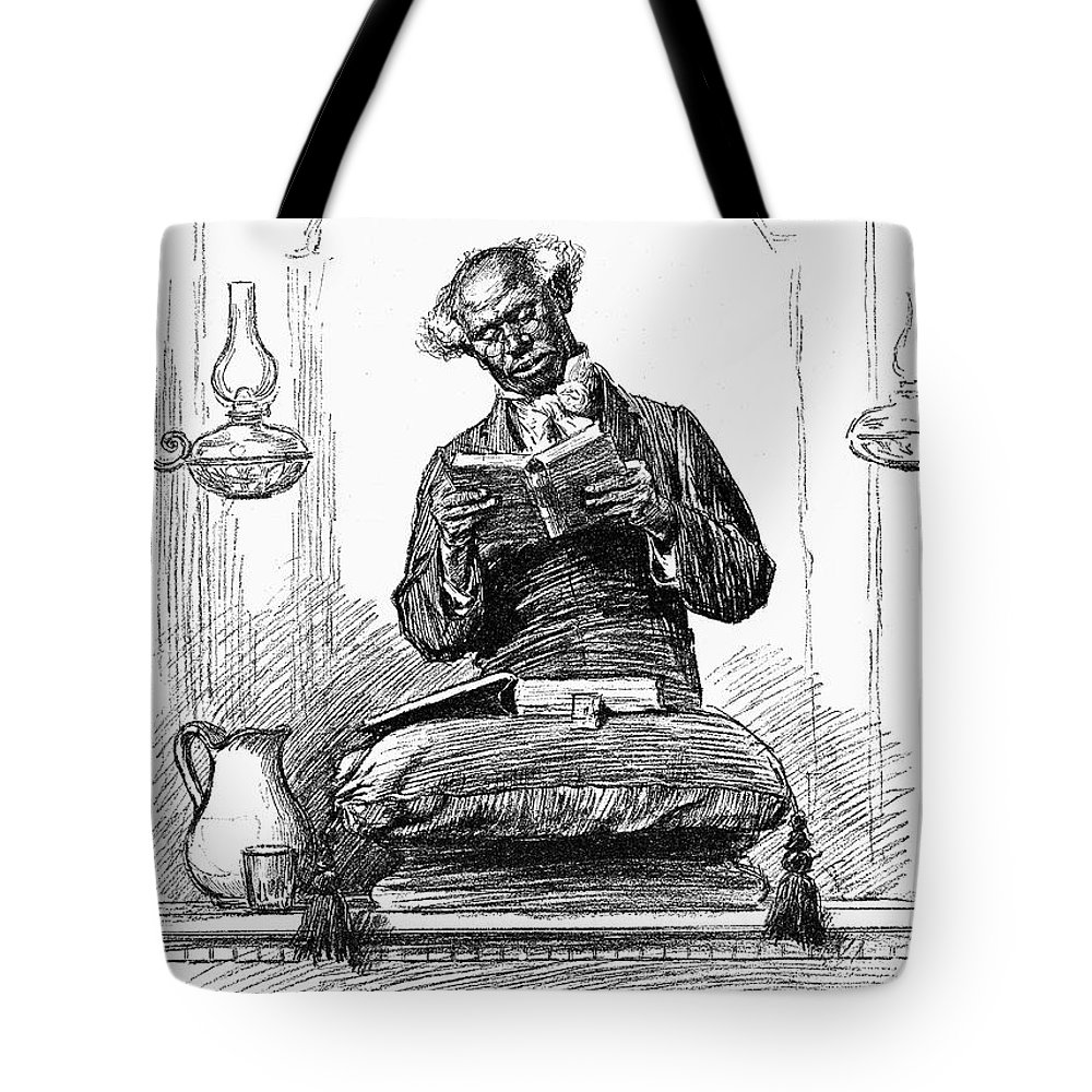 1890 Tote Bag featuring the photograph Black Preacher, 1890 by Granger