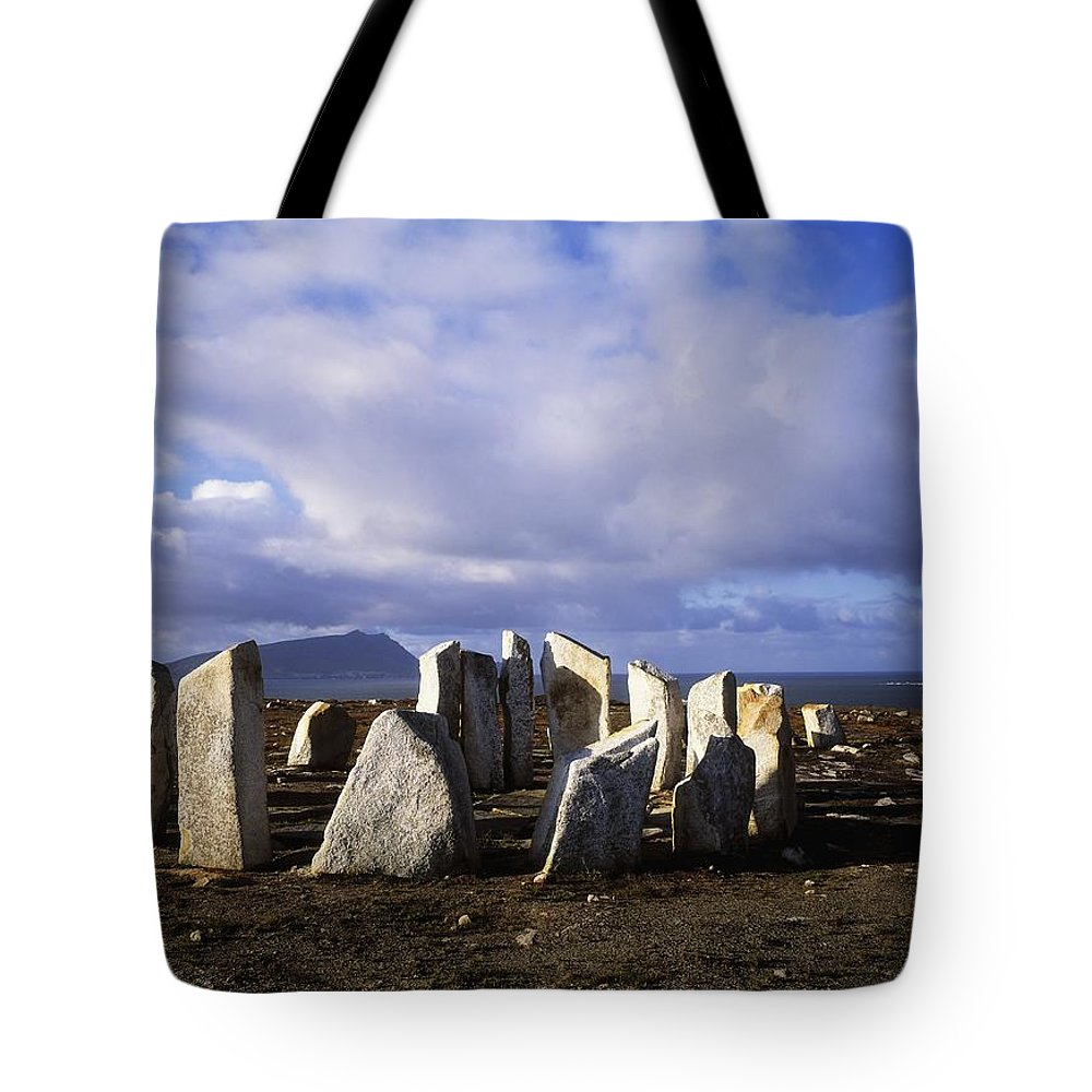Beach Tote Bag featuring the photograph Blacksod Point, Co Mayo, Ireland Stone by The Irish Image Collection