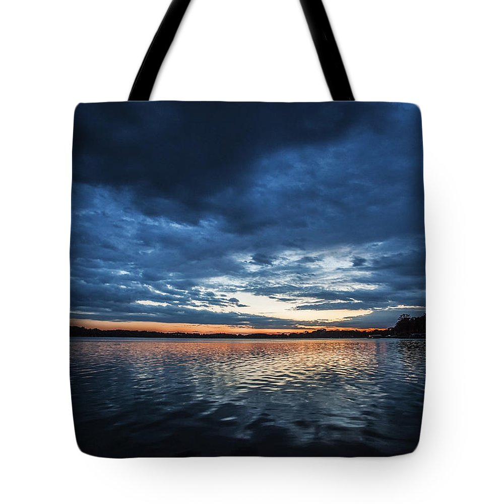 Cj Schmit Tote Bag featuring the photograph Blanket Of Blue by CJ Schmit