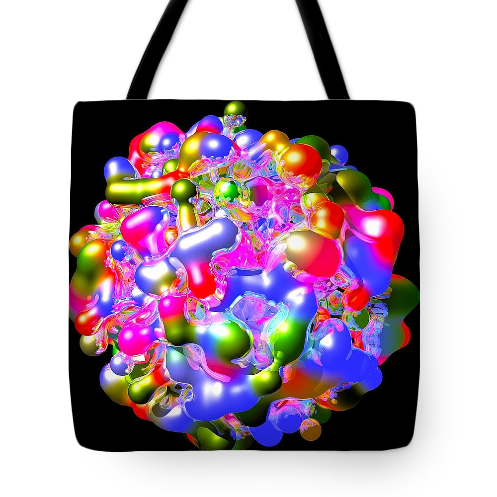 Abstract Tote Bag featuring the digital art Blob Of Color... by Tim Fillingim