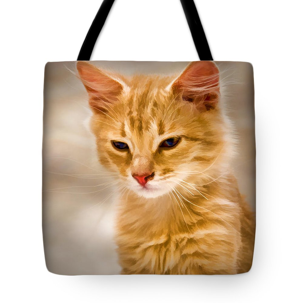Blonde Tote Bag featuring the painting Blondie by Steven Richardson