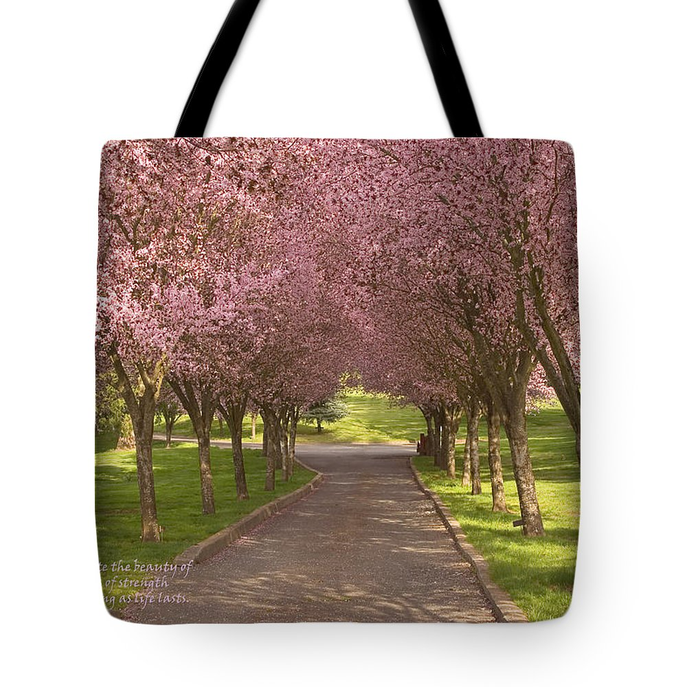 Blooms Tote Bag featuring the photograph Blooms Along The Lane by Mick Anderson