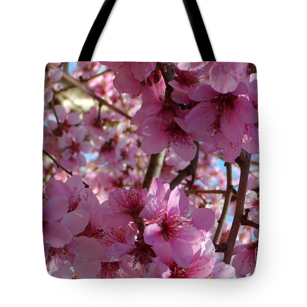 Blossoms Tote Bag featuring the photograph Blossoms by Lydia Holly