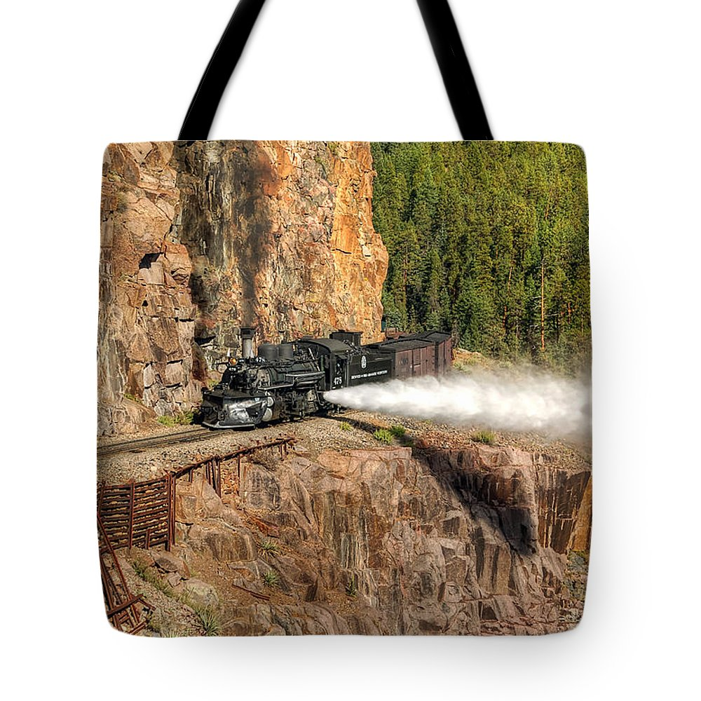 Steam Train Photographs Tote Bag featuring the photograph Blowdown by Ken Smith