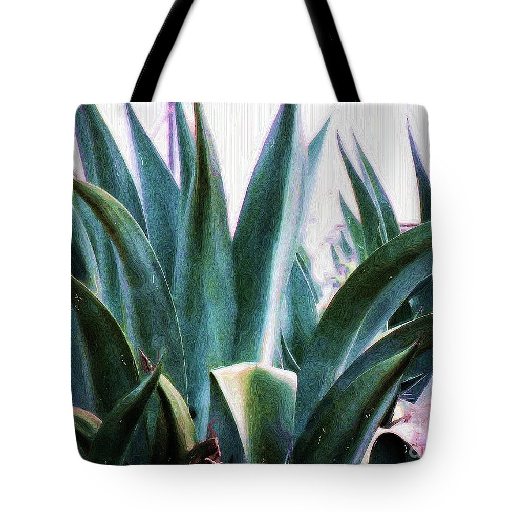 Agave Plant Tote Bag featuring the photograph Blue Agave by Amber Stubbs