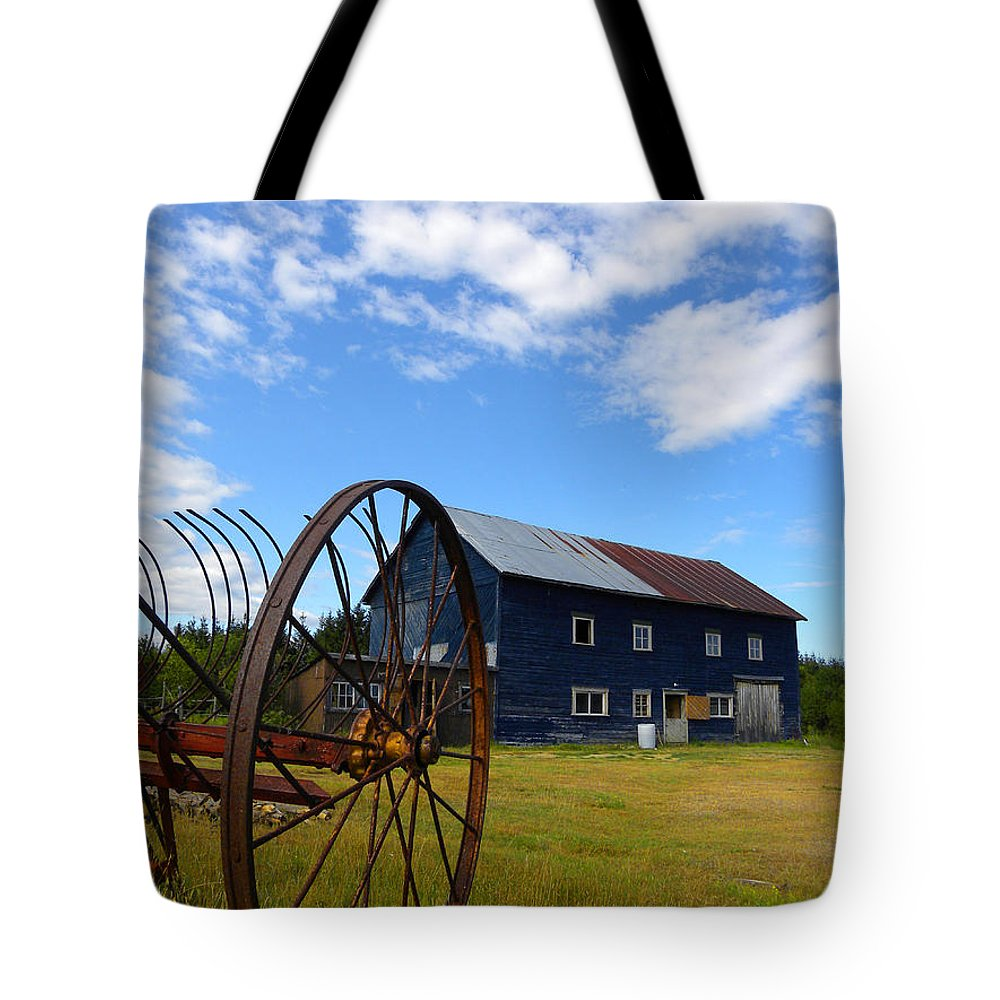 Barn Tote Bag featuring the photograph Blue Barn by Joshua McCullough
