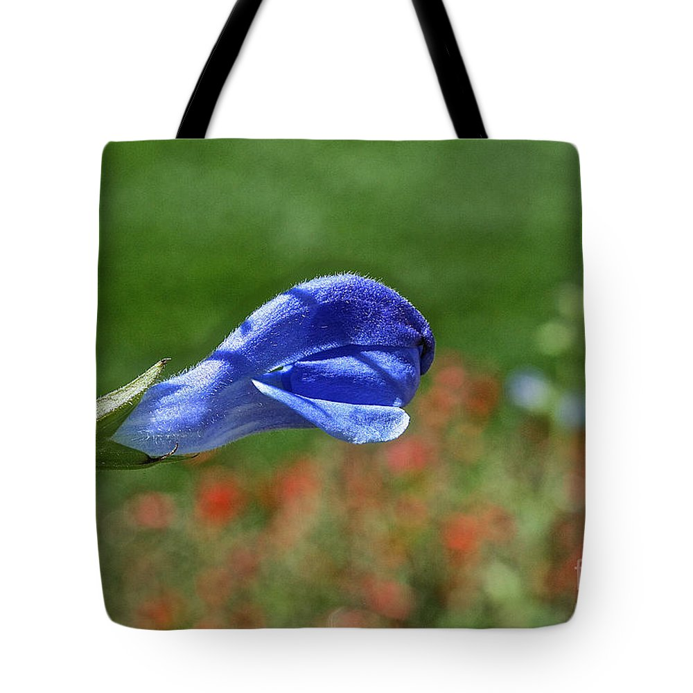 Flower Tote Bag featuring the photograph Blue Beacon by Susan Herber