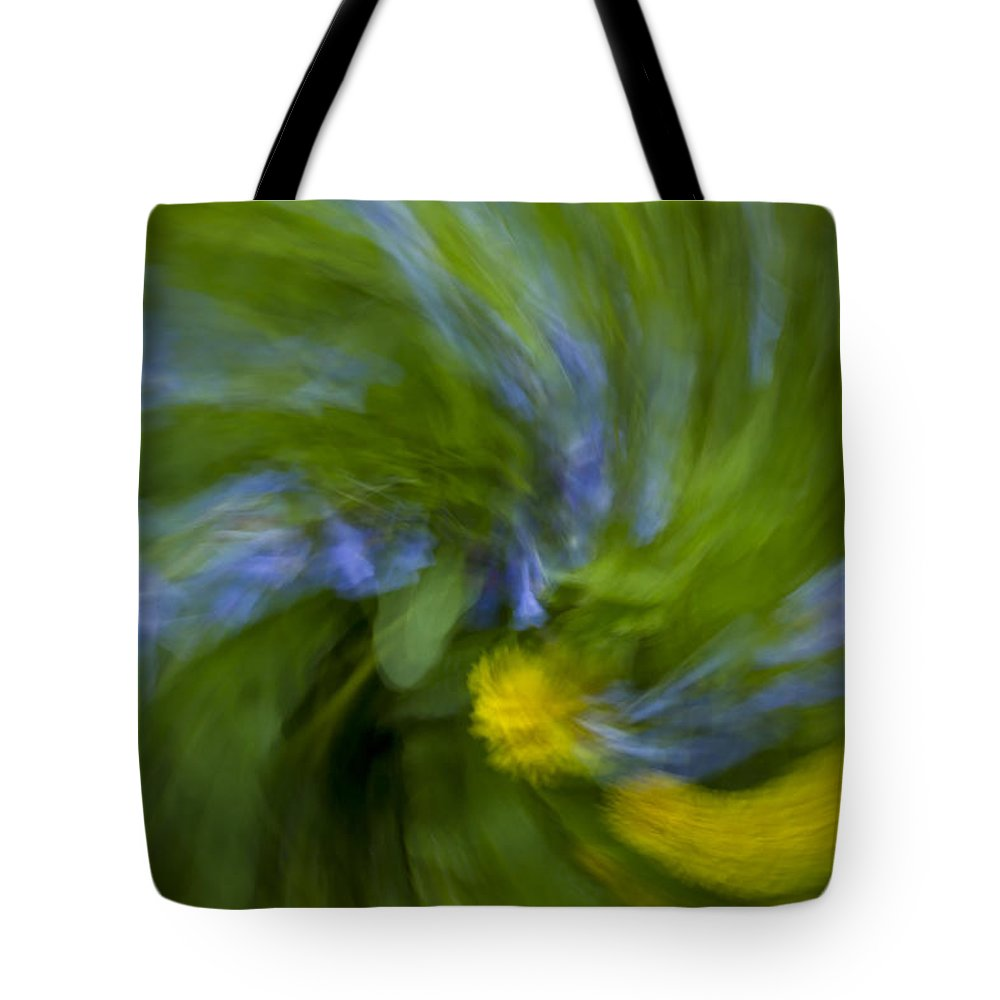 Bluebell Tote Bag featuring the photograph Blue Bells Vortex 2 by John Brueske
