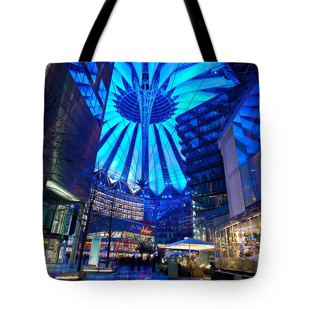 Sony Center Tote Bag featuring the photograph Blue Berlin by Mike Reid