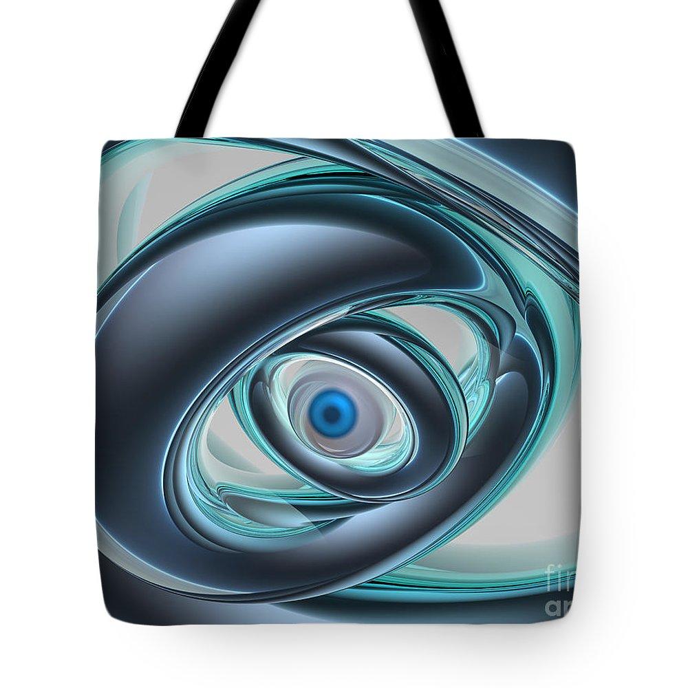 Digital Art Tote Bag featuring the digital art Blue Eyes Of A Machine by Phil Perkins