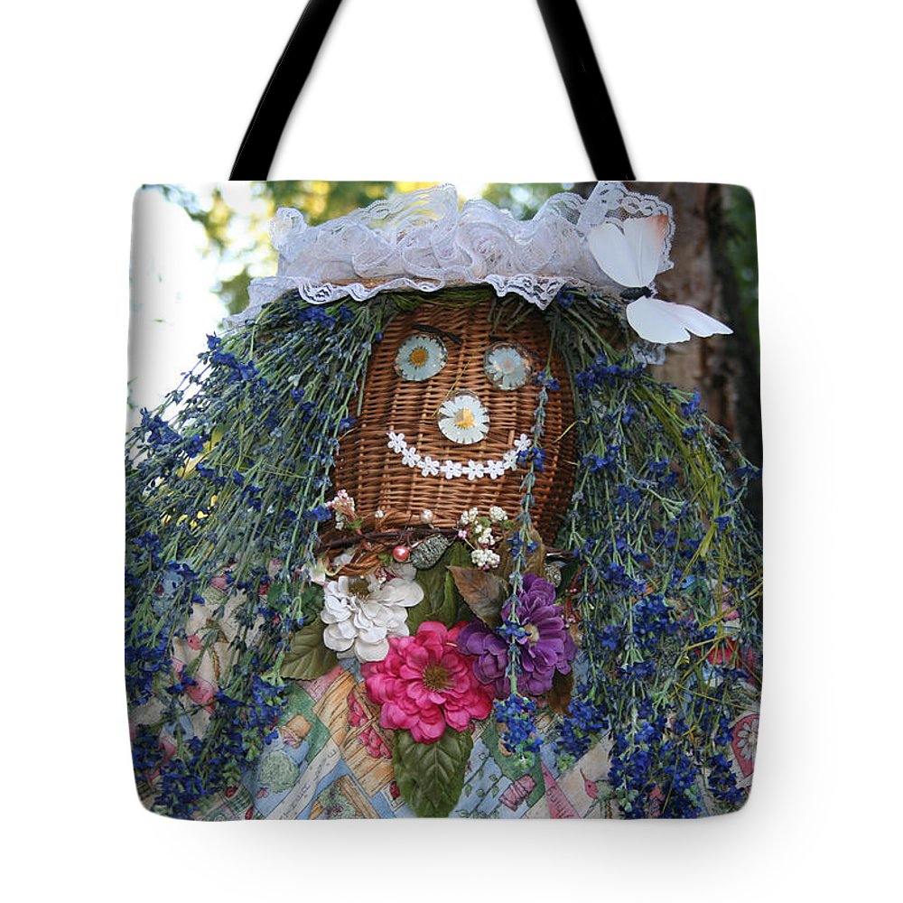 Fall Tote Bag featuring the photograph Blue Hair Bride by Susan Herber