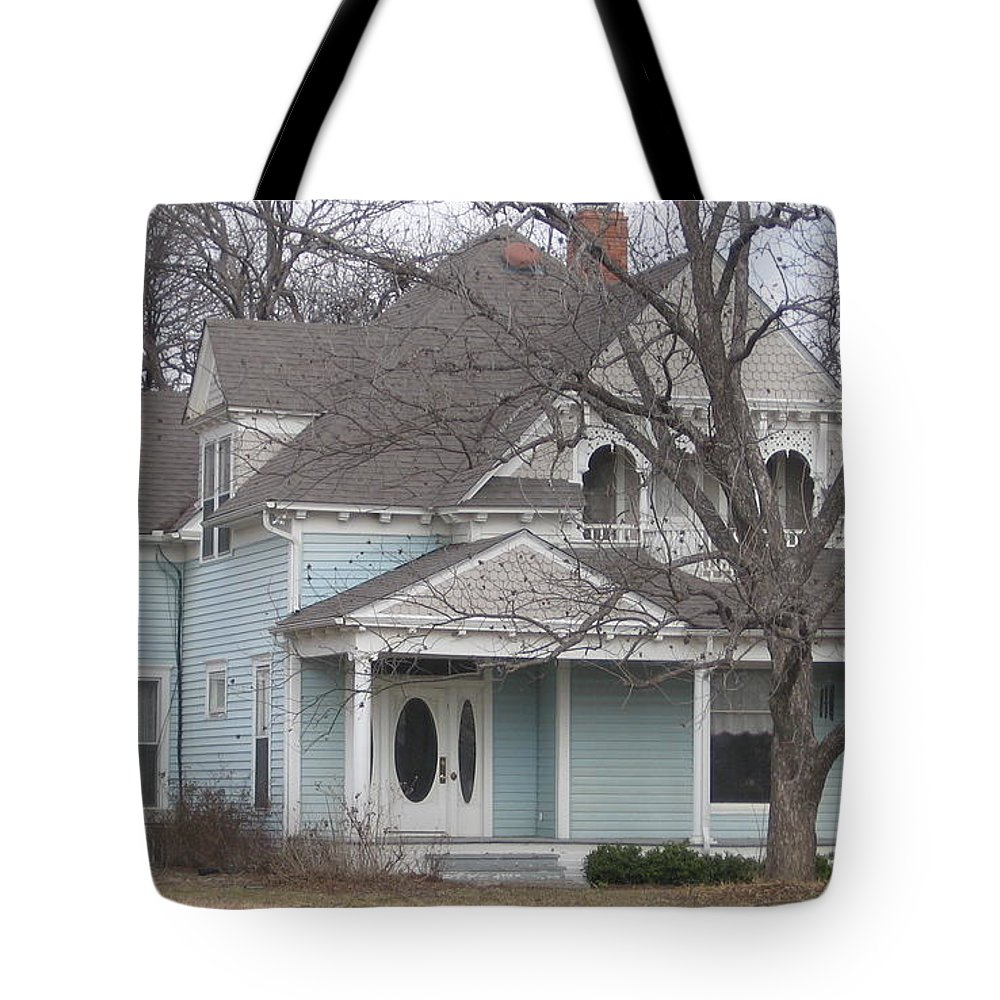 Tote Bag featuring the photograph Blue House by Amy Hosp