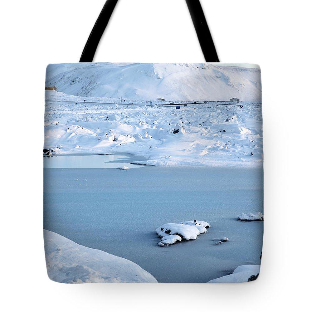 Blue Lagoon Tote Bag featuring the photograph Blue Lagoon by Milena Boeva