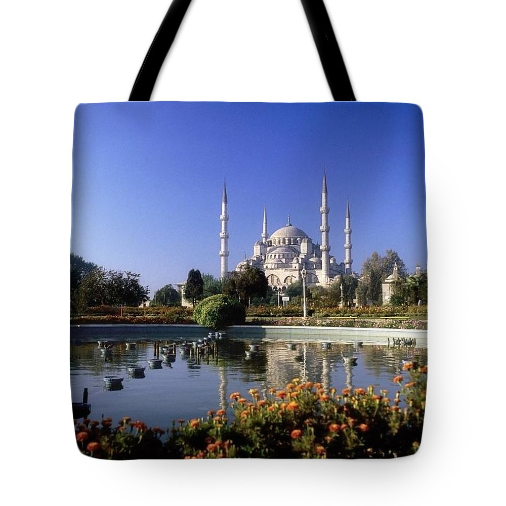 Blooming Tote Bag featuring the photograph Blue Mosque, Sultanahmet, Istanbul by The Irish Image Collection
