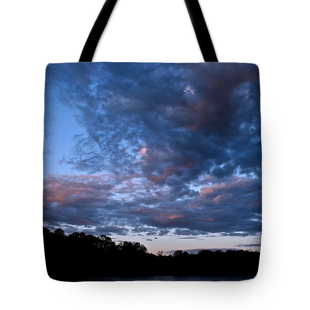 Tote Bag featuring the photograph Blue On Blue by Susan Herber