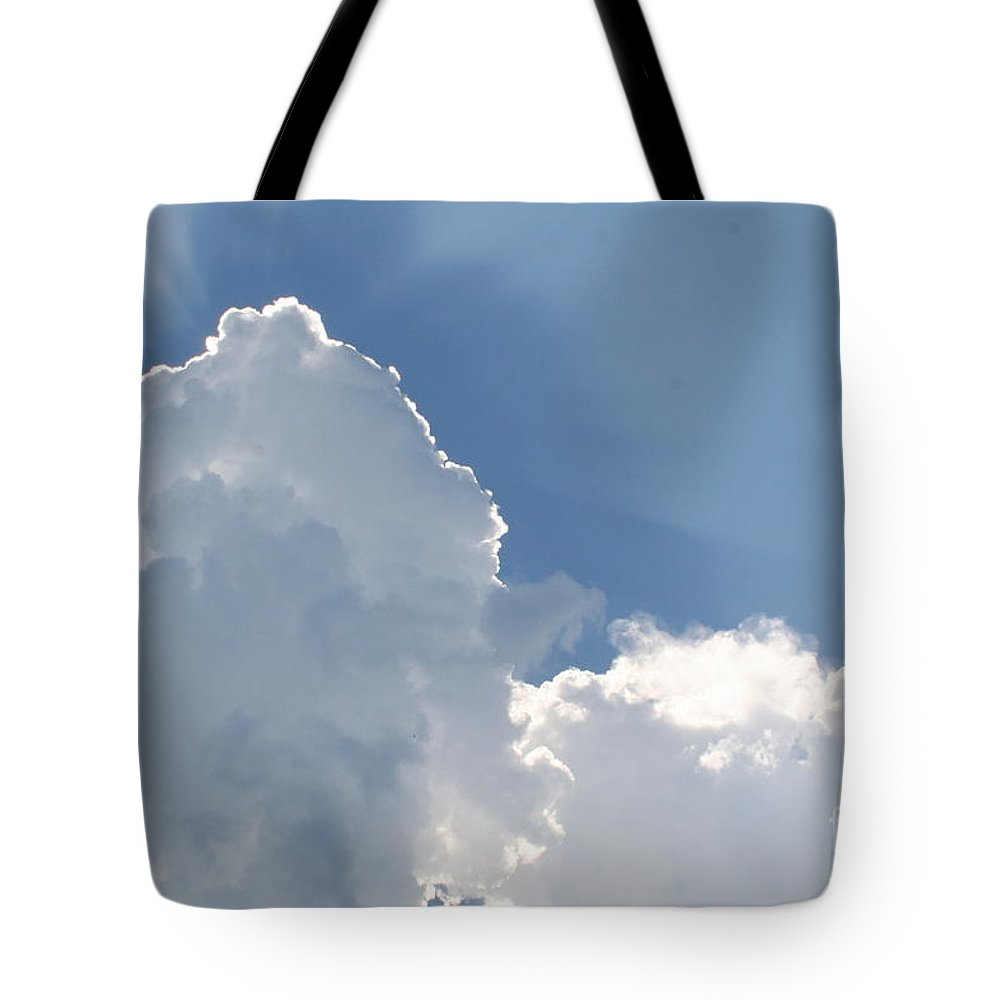 Cloud Tote Bag featuring the photograph Blue Skies by Roger Look