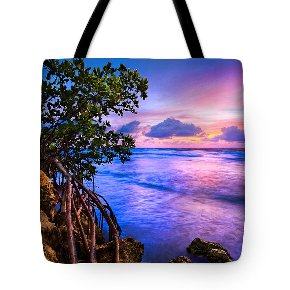 Clouds Tote Bag featuring the photograph Blue Tide by Debra and Dave Vanderlaan