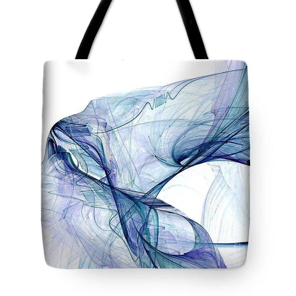 Blue Tote Bag featuring the digital art Blueangel by Vicki Lynn Sodora