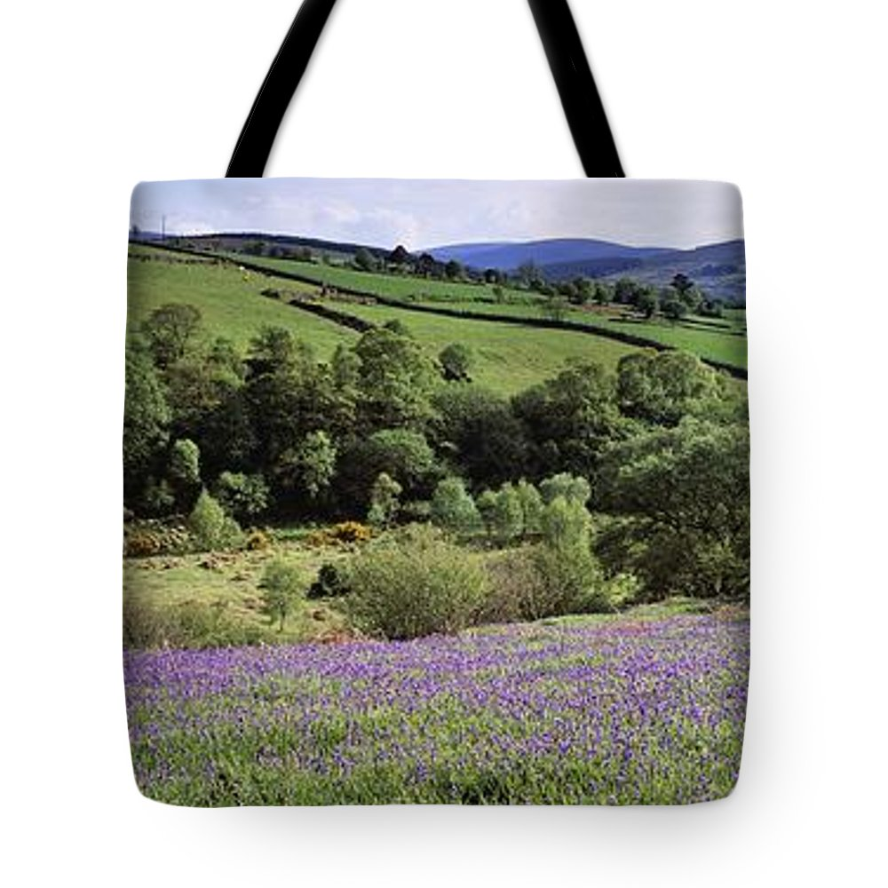 Cloud Tote Bag featuring the photograph Bluebells In A Field, Sally Gap, County by The Irish Image Collection