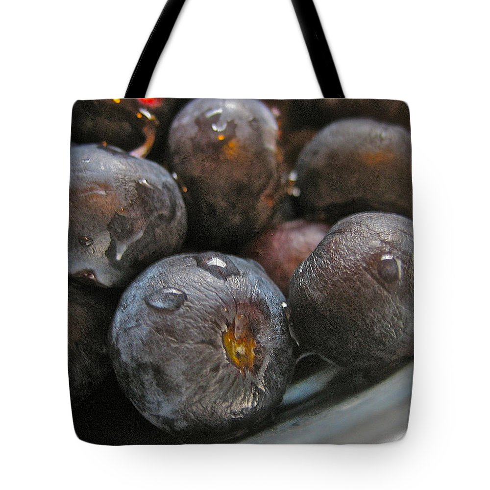 Fruit Tote Bag featuring the photograph Blueberries by Bill Owen