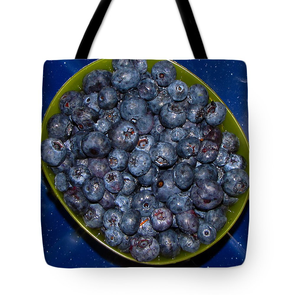 Blueberries Tote Bag featuring the photograph Blueberries by Denise Keegan Frawley