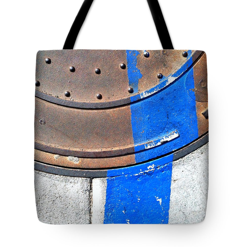 Marlene Burns Tote Bag featuring the photograph Bluer Sewer One by Marlene Burns